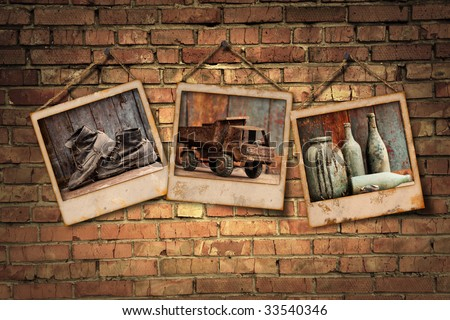grunge gallery from my photo - stock photo