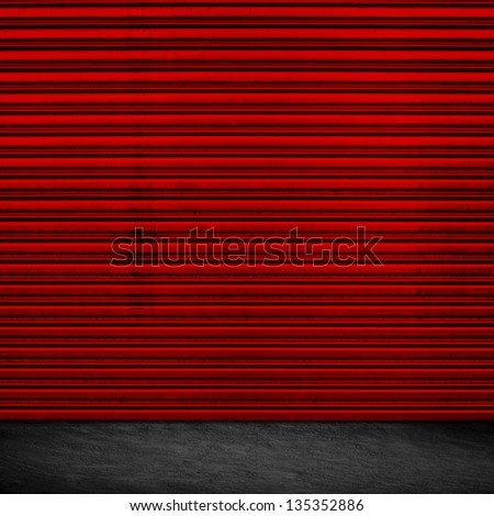 Grunge Garage Door Design - stock photo
