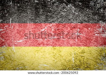 Grunge German flag ,retro texture - stock photo