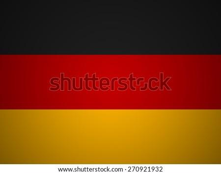 Grunge Germany flag - stock photo