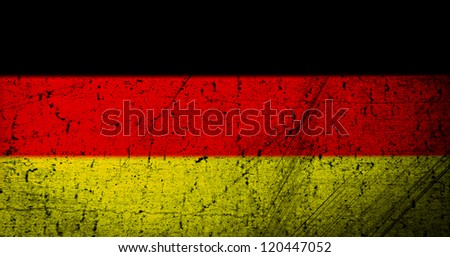 Grunge Germany flag as a background or texture - stock photo