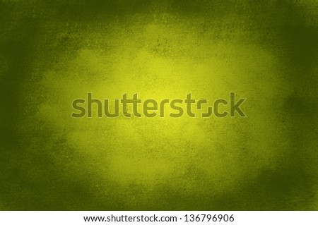 Grunge gold and green background - stock photo