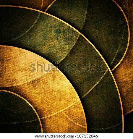 Grunge golden poster - stock photo