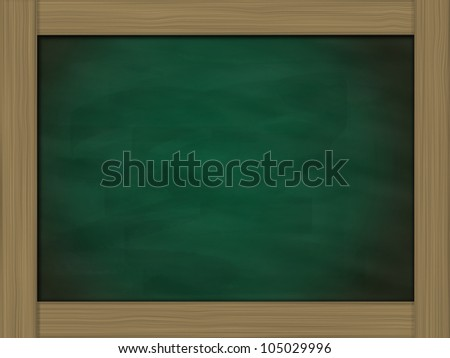 grunge green chalkboard on old brick wall background