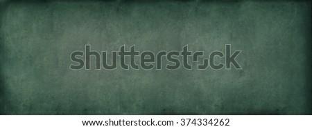 Grunge Green Light Classroom Blackboard Chalkboard Vintage Vignette Texture Background  - stock photo