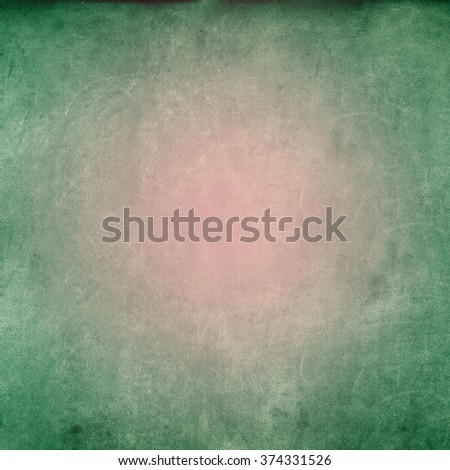Grunge Green Pink Texture Shabby Square Background with Spring Colors - stock photo