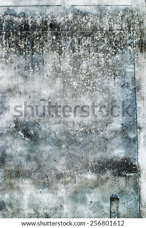 Grunge Grey Concrete Scratched Wall - stock photo