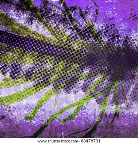Grunge halftone gradient texture - stock photo