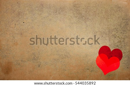 Grunge heart vintage background