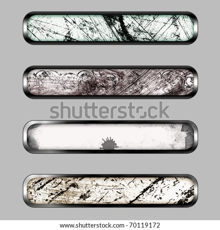 Grunge horizontal banner with color curve for web or desktop - stock photo