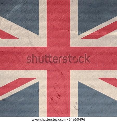 Grunge illustration of the Union Jack flag of the UK - stock photo
