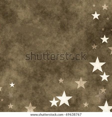 grunge illustration with stars - stock photo