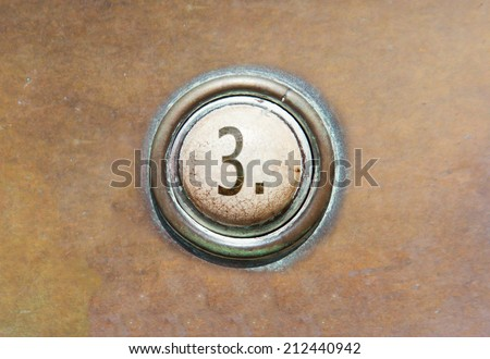 Grunge image of a button from the control area - 3 - stock photo