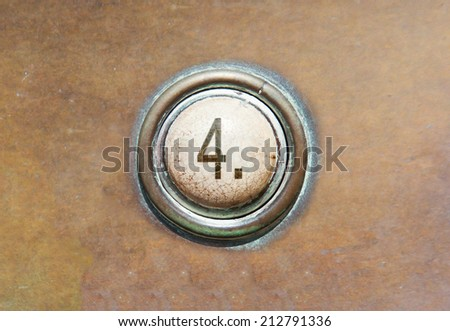Grunge image of a button from the control area - 4 - stock photo