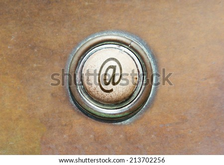Grunge image of an old button - Mail - stock photo