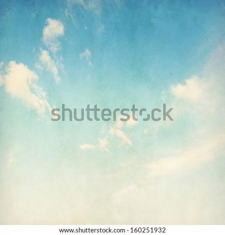 Grunge image of blue sky. - stock photo