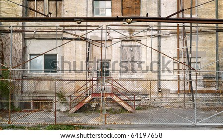 Grunge industrial building exterior