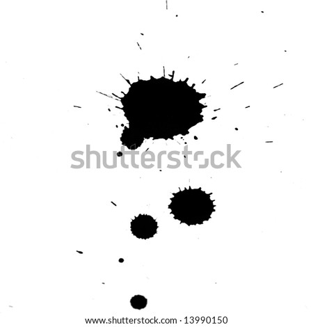 grunge ink splash
