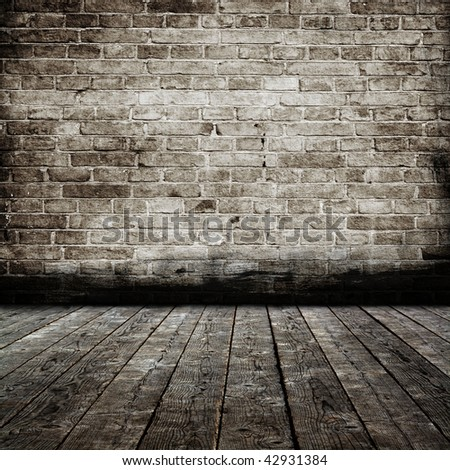 Grunge interior. More similar available in my portfolio. - stock photo
