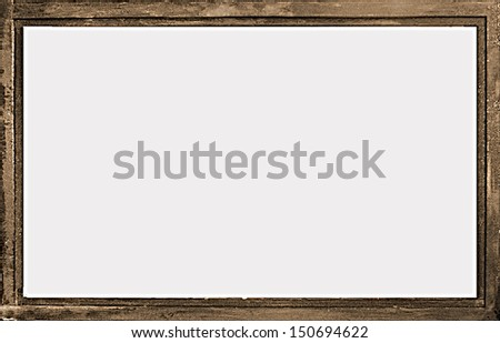 Grunge landscape format background frame in brown and gray tones.