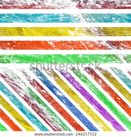 Grunge line isolated on a white background  - stock photo