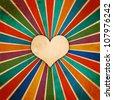 Grunge love poster - stock vector