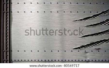 grunge metal background template - stock photo