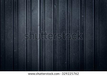 grunge metal fence dark for texture background - stock photo