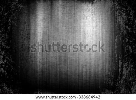 grunge metal plate - stock photo
