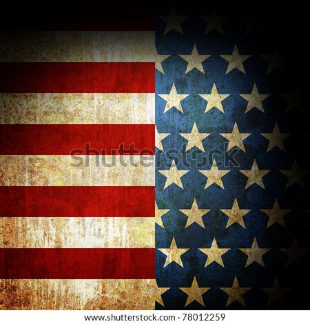 Grunge metal rusty america pattern independent day - stock photo
