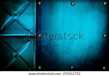 grunge metal tank background  - stock photo