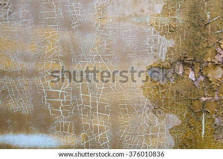Grunge metal texture with color scratched and rust