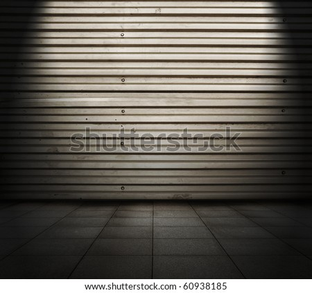 grunge metallic room - stock photo