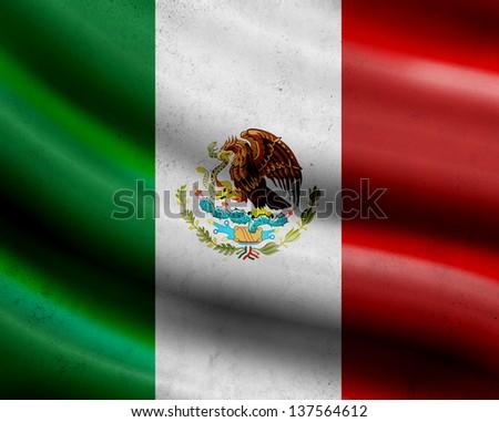 Grunge Mexico flag - stock photo