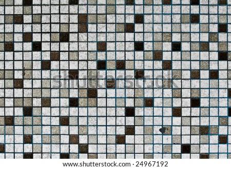 grunge mosaic tile texture - stock photo