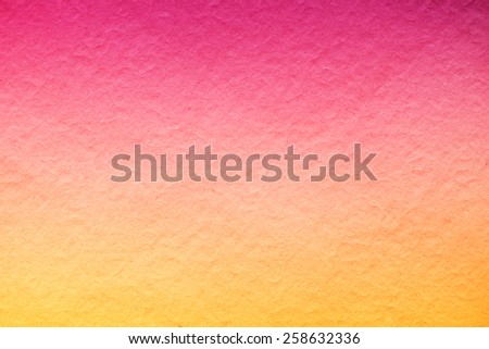 grunge mulberry paper texture with yellow to pink gradient color abstract background - stock photo