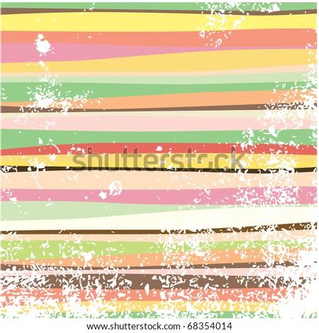 Grunge multi-colored horizontal stripes. Raster version. - stock photo