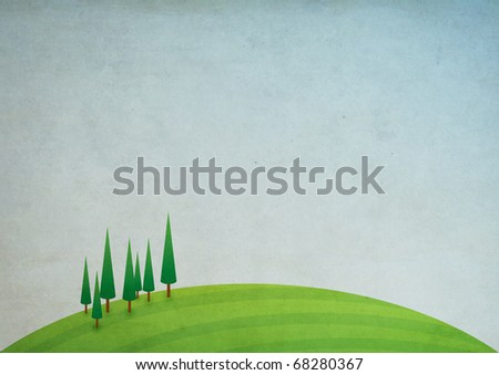 Grunge nature illustration - stock photo