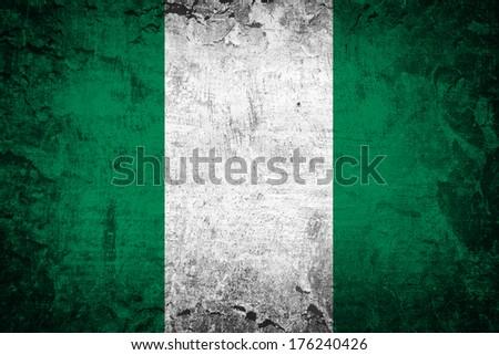 Grunge Nigeria Flag  - stock photo