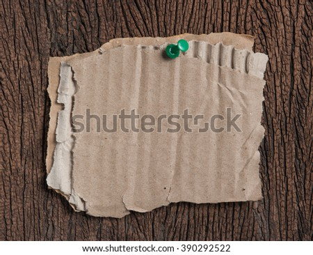 grunge note paper on wooden background - stock photo
