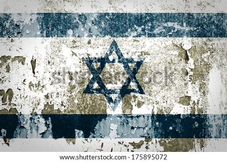 Grunge of Israel flag  - stock photo