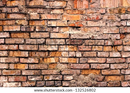 Grunge old brick wall texture background