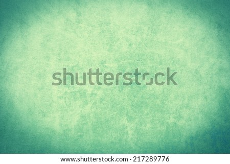 Grunge old green paper background with vignette  - stock photo