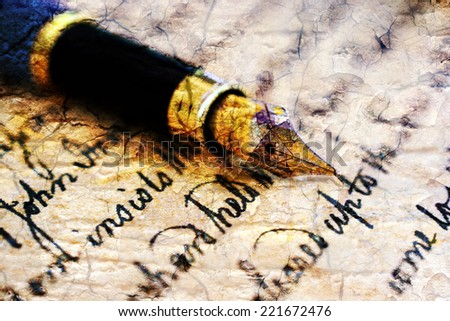 Grunge Old letter - stock photo