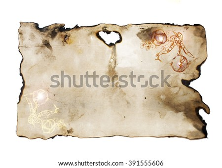 grunge old paper with space for text - stock photo