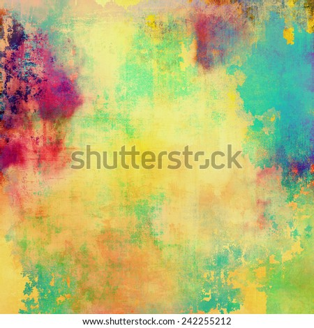 Grunge old texture as abstract background. With different color patterns: purple (violet); green; pink; cyan; blue; yellow (beige) - stock photo