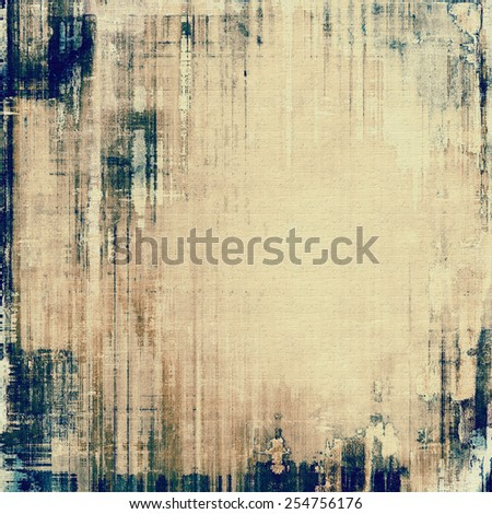 Grunge old texture as abstract background. With different color patterns: yellow (beige); brown; gray; blue - stock photo
