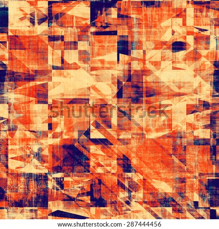 Grunge old texture as abstract background. With different color patterns: yellow (beige); red (orange); purple (violet); blue - stock photo