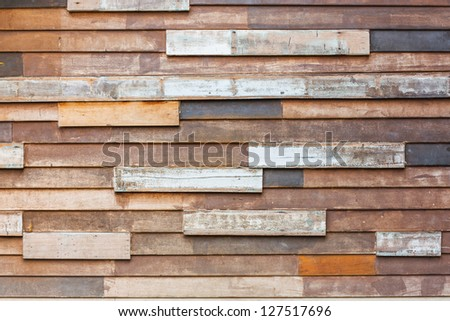 Grunge old wood wall texture background - stock photo