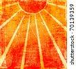 Grunge orange background - stock